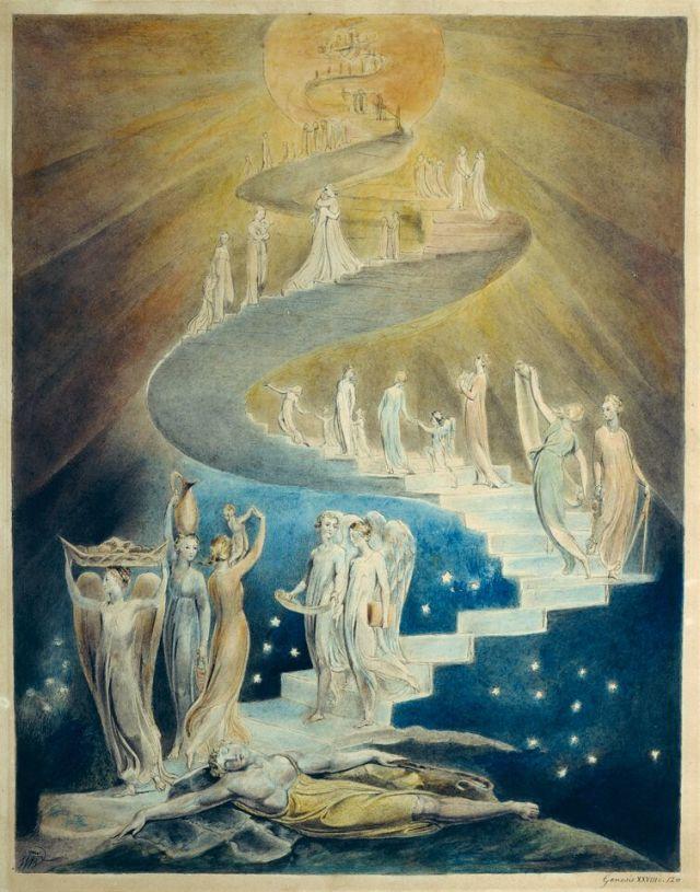 JACOB'S DREAMVON WILLIAM BLAKE (1805, BRITISH MUSEUM, LONDON)
