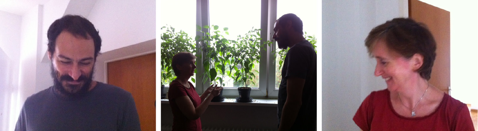 Mazen Kerbaj (links) und Karen Power (rechts)