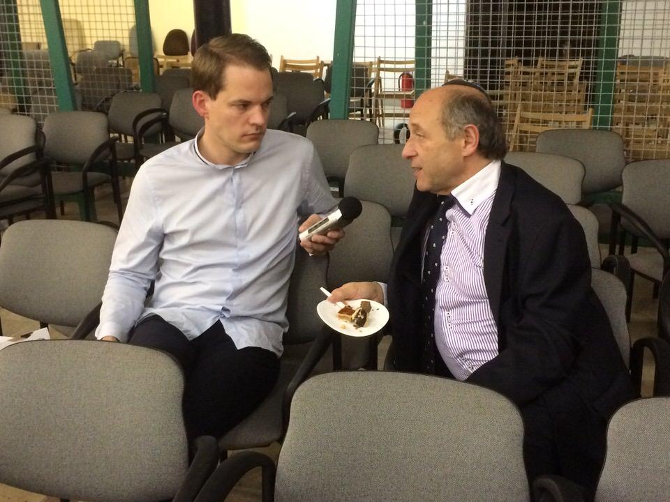 Arno Lücker im Interview mit Iván Fischer · Foto Inga Petersen