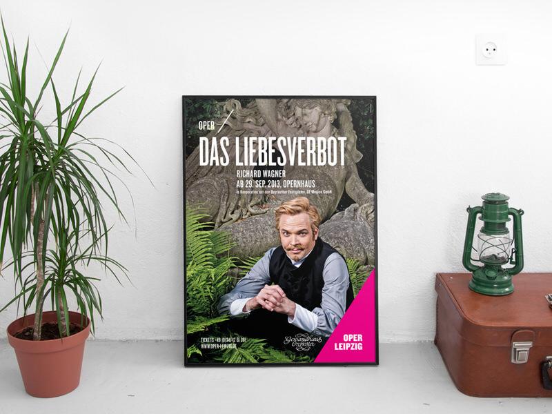PlakatgestaltungFormduscheund Hausgrafik der Oper Leipzig