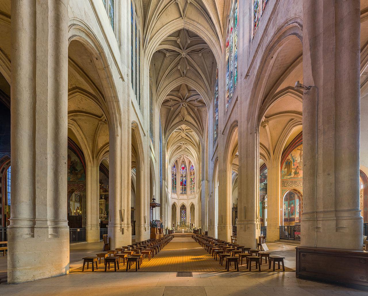 Kirche Saint-Gervais-et-Saint Protais in Paris. Louis Couperin war hier, genau wie später sein Neffe François Couperin, »Le Grand«, Organist · FotoDAVID ILIFF (CC)