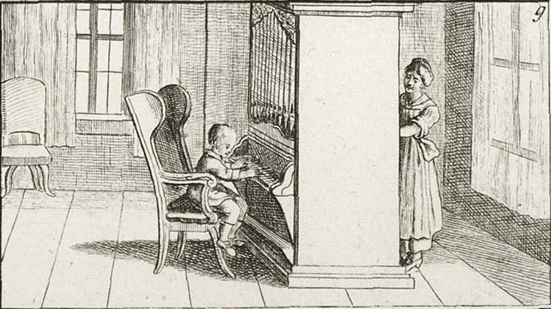 William Crotch, das musikalische Wunderkind in England, aus: Bilder-Akademie für die Jugend, Nürnberg Ende 18. Jahrhundert