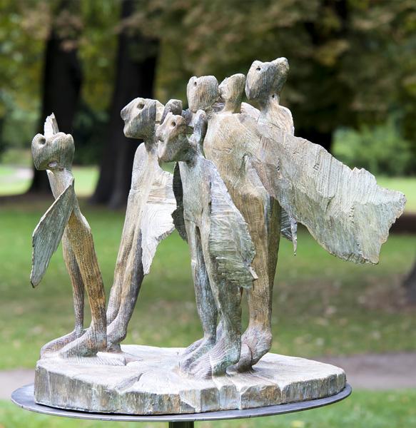 Alexander Polzin, Requiem (homage to György Kurtág), 2011, Bronze· Foto © Norbert Banik