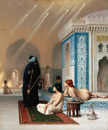 Pool in a Harem;Jean-Léon Gérôme,circa 1876