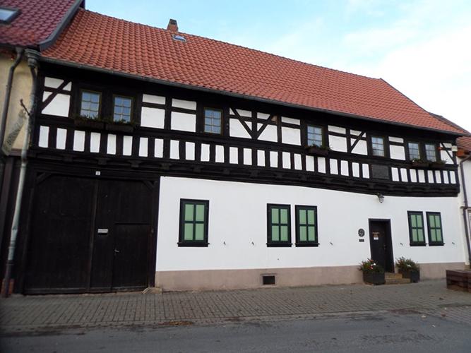 Das Stammhaus der Bachs in Wechmar, wo sich Veit Bach nach seiner Flucht aus Pressburg Ende des 16. Jahrhundertsniederließ und eine Bäckerei betrieb.