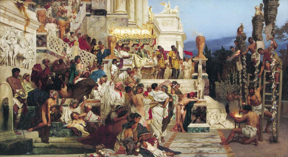 Henryk Siemiradzki,Die lebenden Fackelndes Nero, 1872