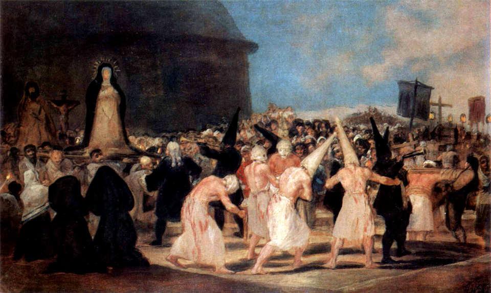Francisco de Goya y Lucientes,Awwakum auf dem Scheiterhaufen, 1812-1819
