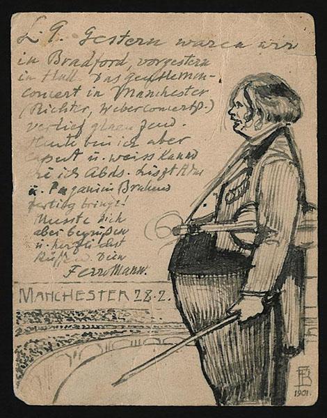 Busoni: Postkarte an Gerda Busoni; 28.2.1901 · FotoStaatsbibliothek zu Berlin – Musikabteilung mit Mendelssohn-Archiv· Weitere Informationen