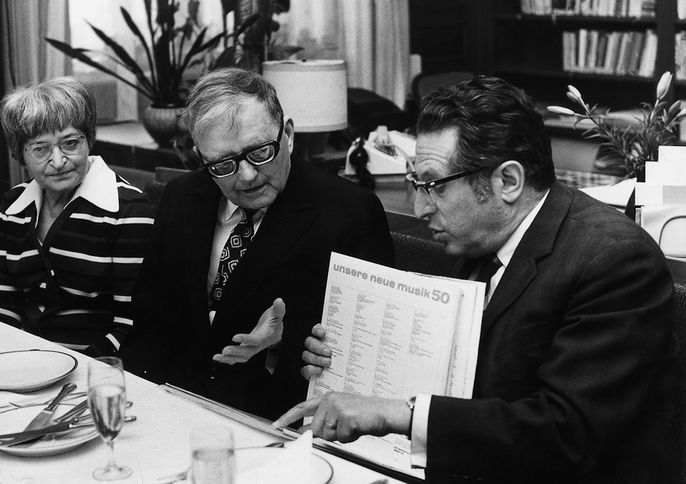 Kurt Sanderling mit Dmitri Schostakowitsch • FotoKonzerthaus Berlin Archiv