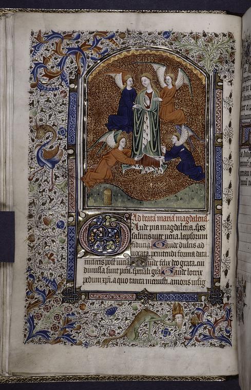 miniatur der maria magdalena (1450) •bild NYPL