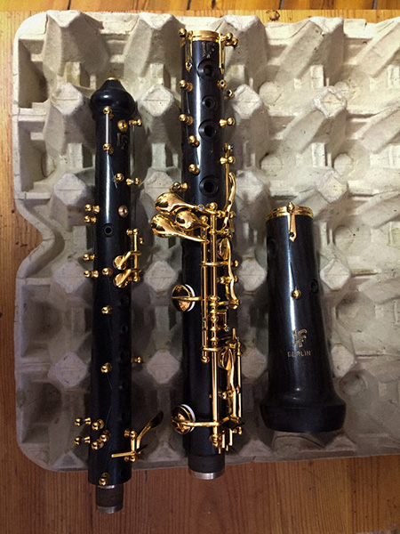 Wertvolle Oboe im Entstehen