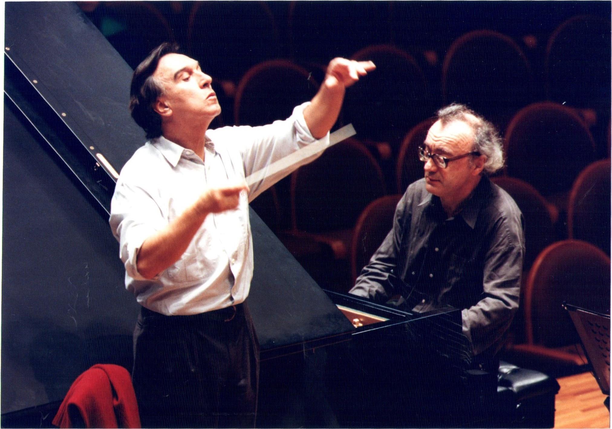 Claudio Abbado und Alfred Brendel