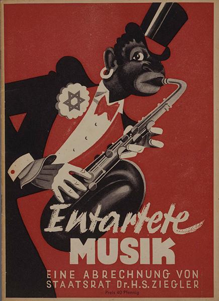 Deckblatt einer Broschüre zu einer Ausstellung über »Entartete Musik« 1939 in Düsseldorf, © Deutsches Historisches Museum, Berlin