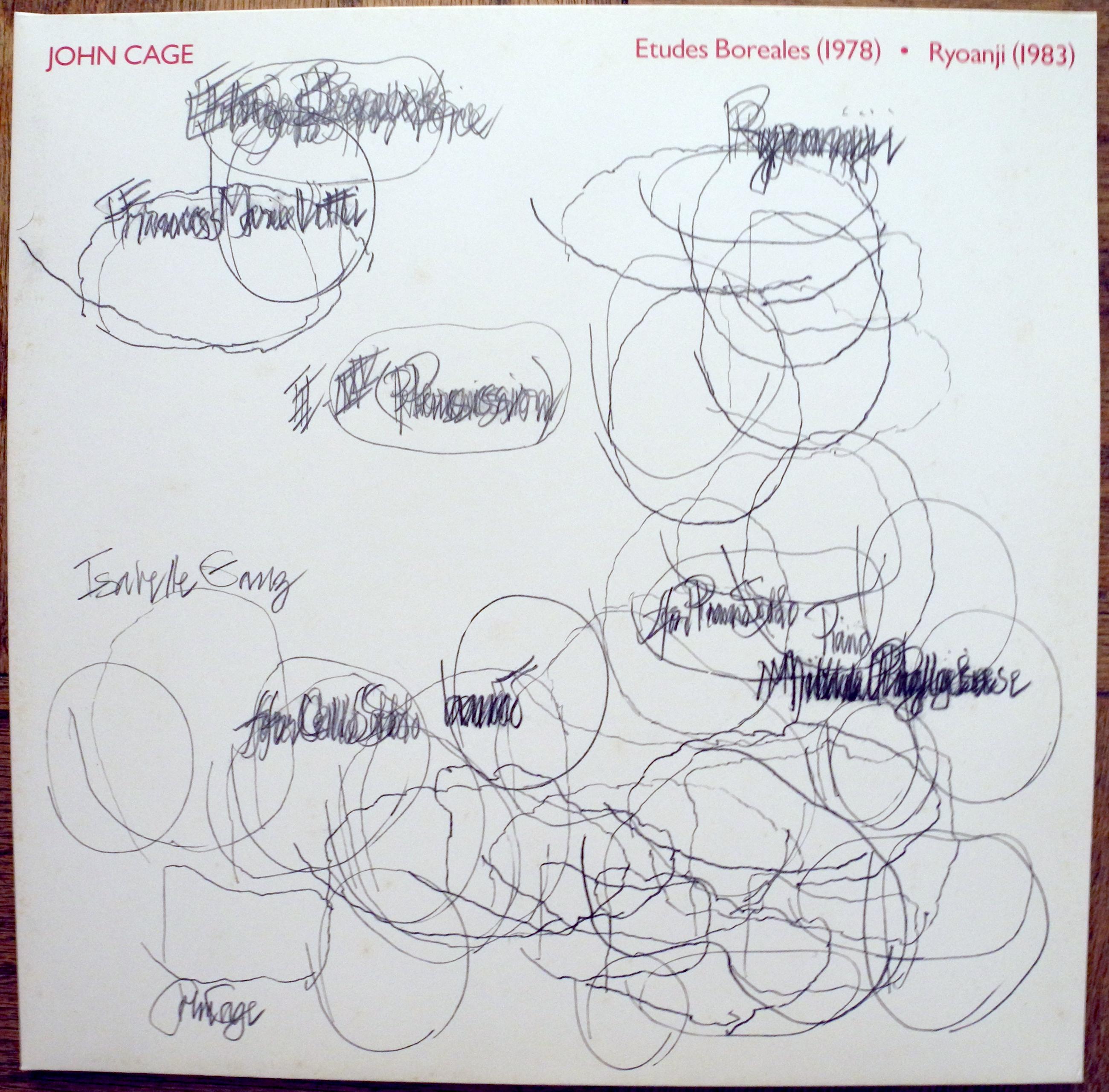 ›John, ich wäre dann soweit.‹ Das erste Release von Mode Records mit einem von John Cage gezeichneten Cover, erschienen als Vinyl (1984).