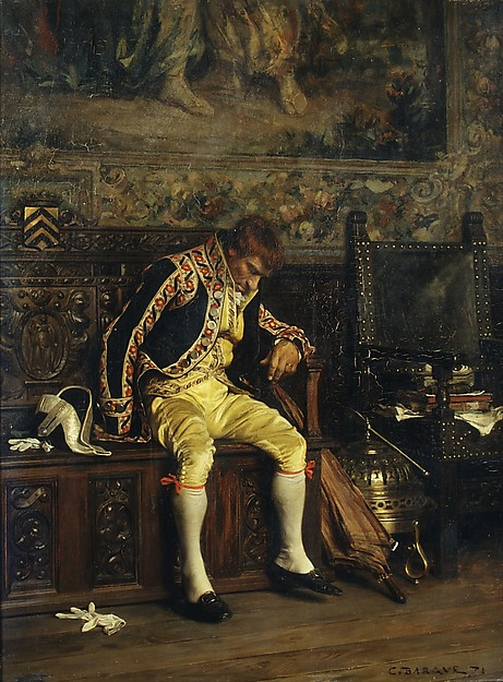 FotoA Footman Sleeping vonCharles Bargue (Public Domain)