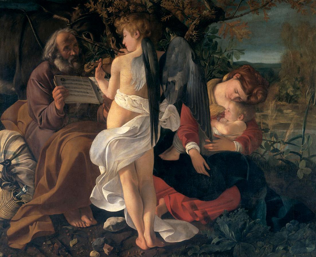 FotoDie Ruhe auf der Flucht nach Ägypten von Michelangelo (Public Domain)