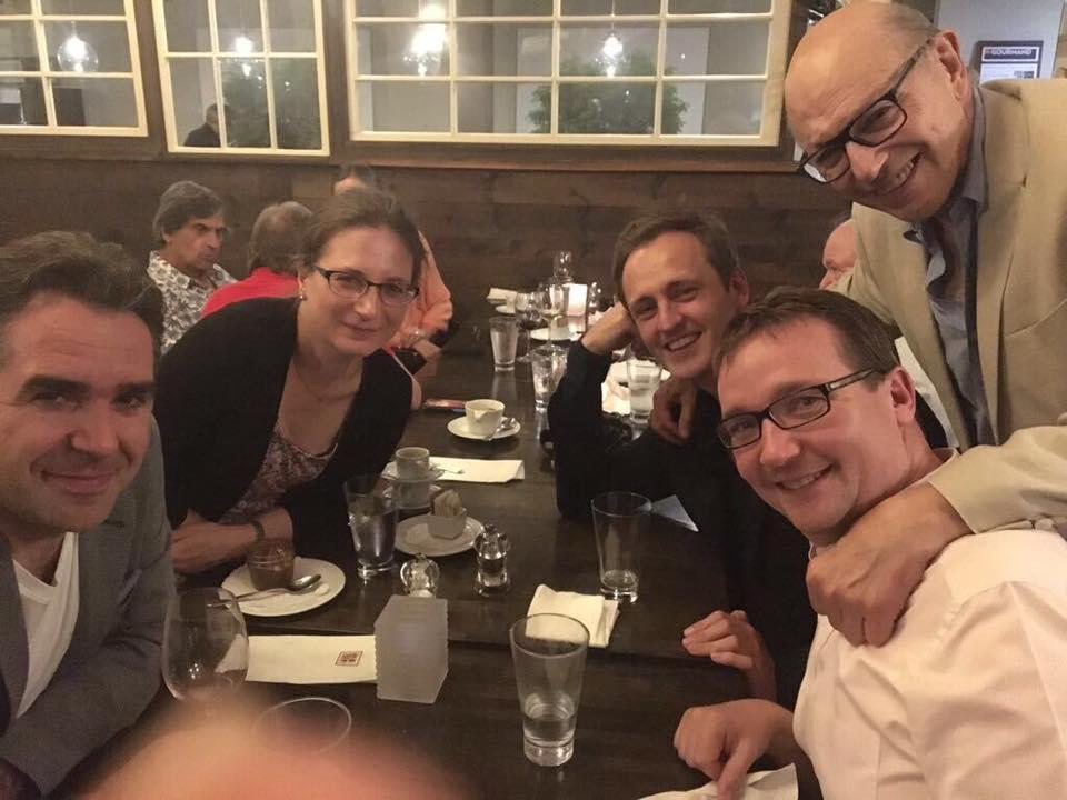 Nicht mit Eberhard Feltz, sondern mit Mauricio Fuks, Oliver Willes Professor aus Bloomington und ein enger Freund des Quartetts.