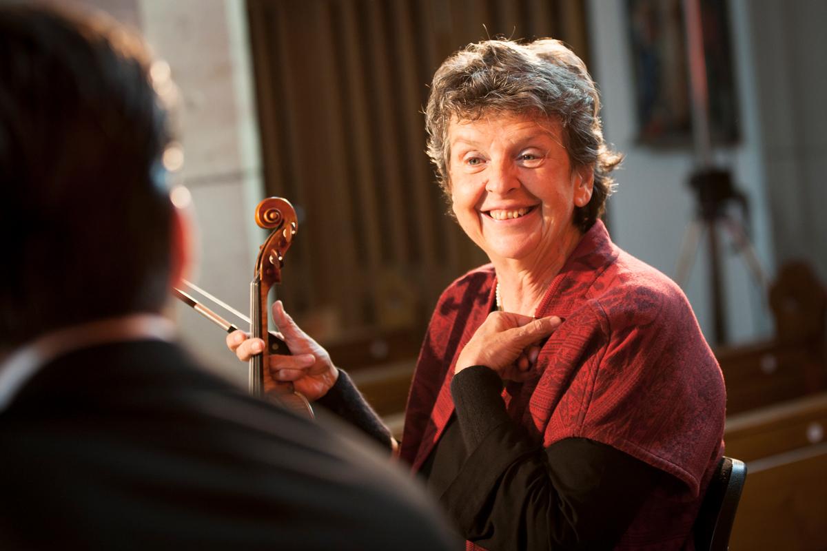 Ana Chumachencobei Proben zum »Konzert für Ana Chumachenco« während des Kronberg Academy Festivals 2013.Foto© Dan Hannen