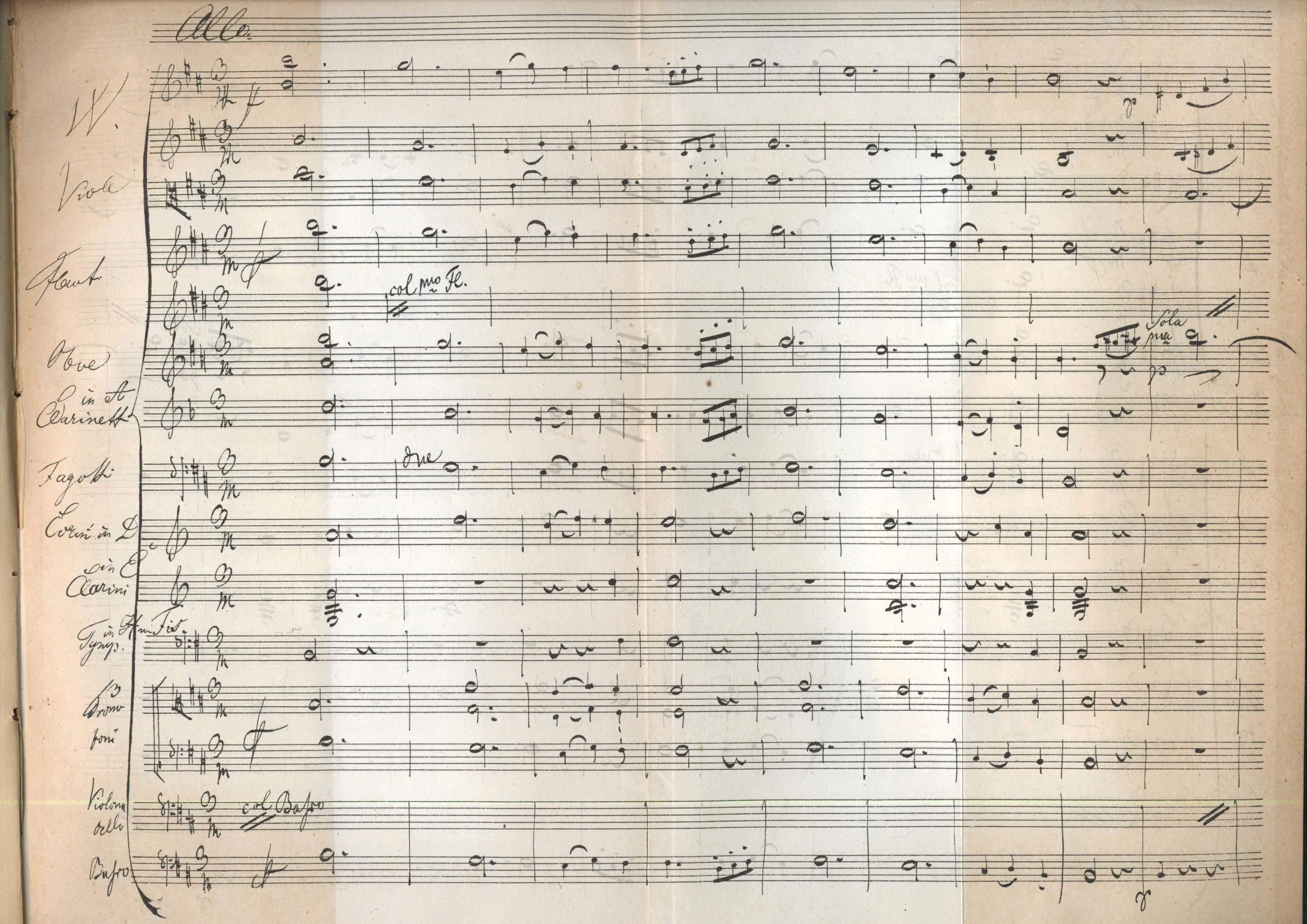 Schuberts Entwurf zu einem dritten Satz der Sinfonie h-Moll
