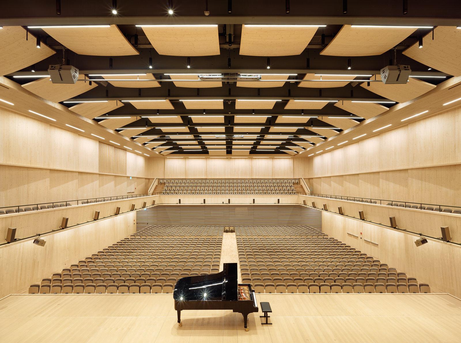 Die Interimsspielstätte des Tonhalle-Orchester Zürich auf dem Maag-Areal im Zürcher Westen.Foto © Hannes Henz