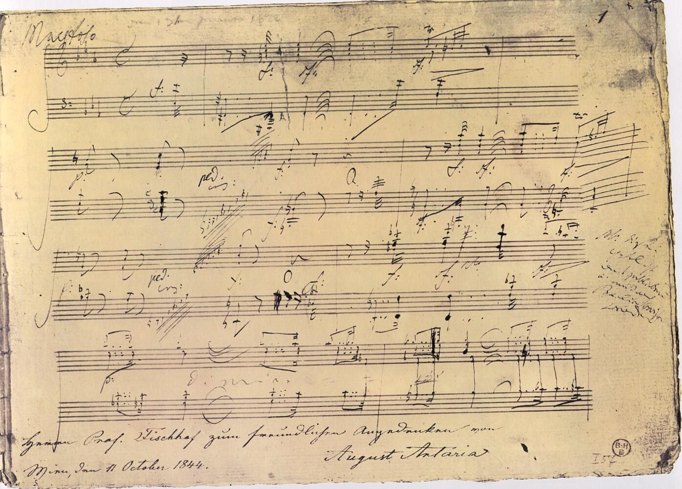 Erste Seite des Autographs von op. 111 • Foto Public Domain