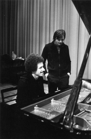 Keith Jarrett und Manfred Eicher, späte 1970er • Foto © Roberto Masotti