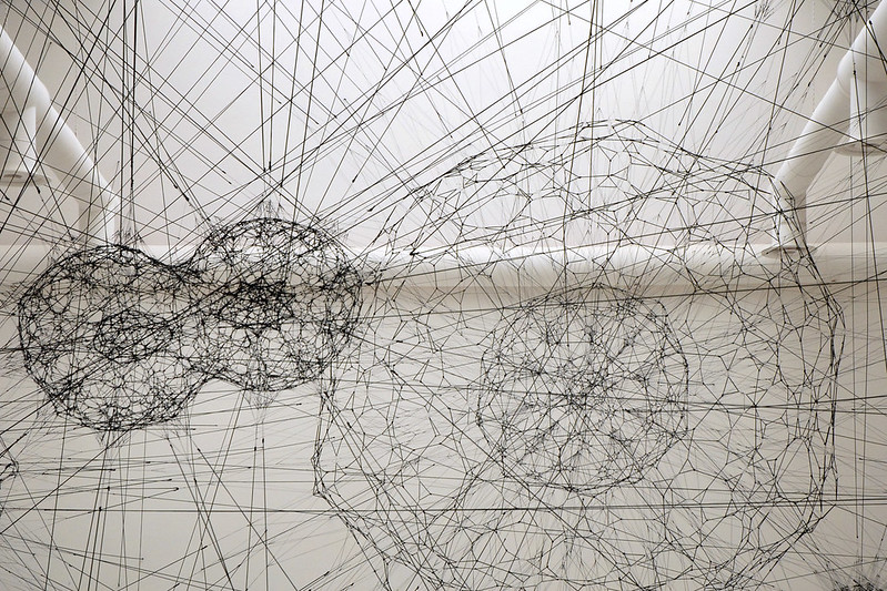 Tomás Saraceno Galaxies Forming along Filaments, like Droplads along the Strands of a Spider's Web, 2009 • FotoJean-Pierre Dalbéra(CC BY 2.0)