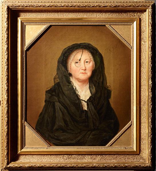 Anna Dorothea Therbusch (25.7.1721–9.11.1782) / Malerin, Selbstbildnis, um 1780, Öl auf Leinwand, 36,9 x 32,3 cm, © Staatliche Museen zu Berlin, Nationalgalerie / Andres Kilger