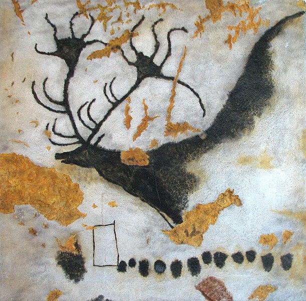 Replikat einer Malerei aus der Höhle von Lascaux •FotoLascaux(Public domain)via Wikimedia Commons