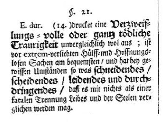 E-Dur bei Johann Mattheson